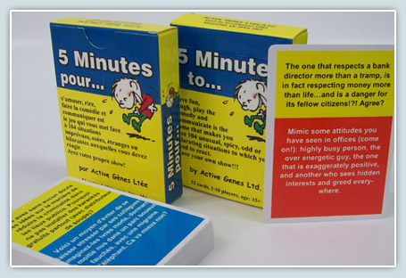 5 Minuted Cards